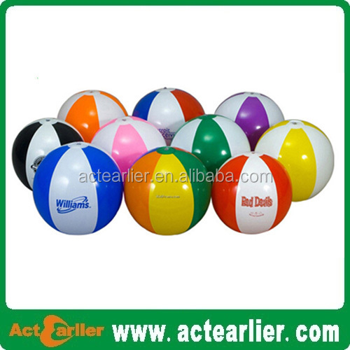 Hot sale Pvc inflatable beach ball with custom logo 12-30inch 35-50cm