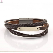 DIY Multi Layered Braided Leather Bracelet For Mens