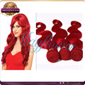 red hair color percent spanish wave human hair extension weft natural color 8A virgin human hair