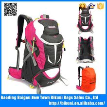 Heavy duty external frame backpack with water bottle pocket hiking backpack with rain cover