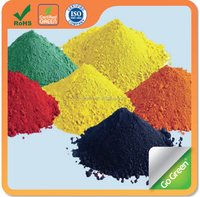 Iron oxide pigments used to make color asphalt