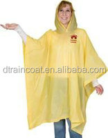 PVC rain Ponchos Cheap in Purple color with 1c imprint at the back