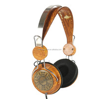 Fanshion wood bass head phones music fans