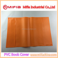 protective plain color plastic vinyl notebook covers for school a4 exercise books