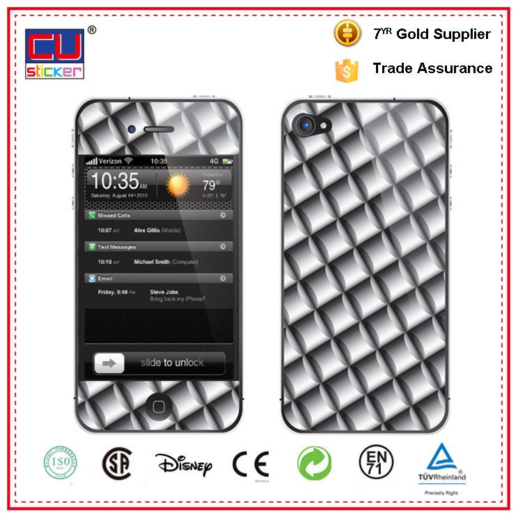 Mobile phone skin sticker labels