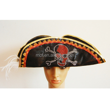 Party wholesale Fun dress up plush high quality leather pirate hat