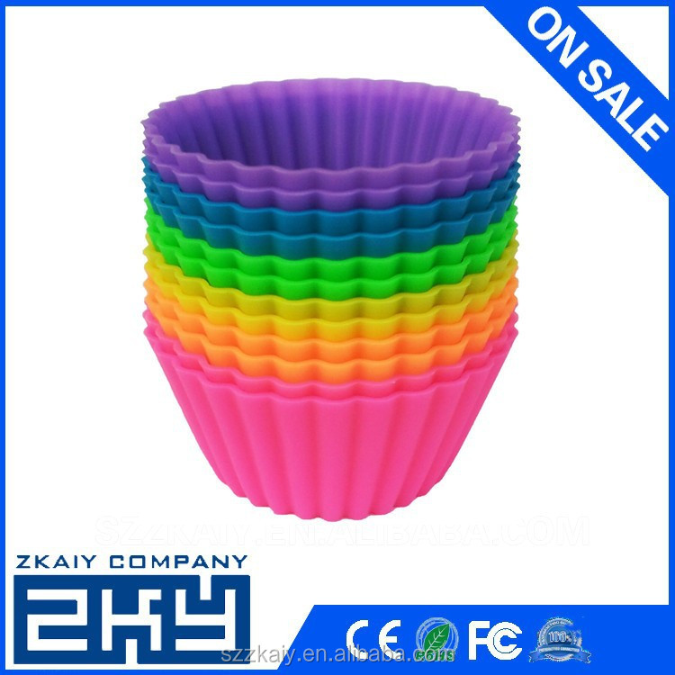 Flexible silicone cake molds for cake colorful silicone cupcake molds