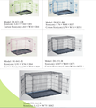 green blue pink blackDog cage Double doors