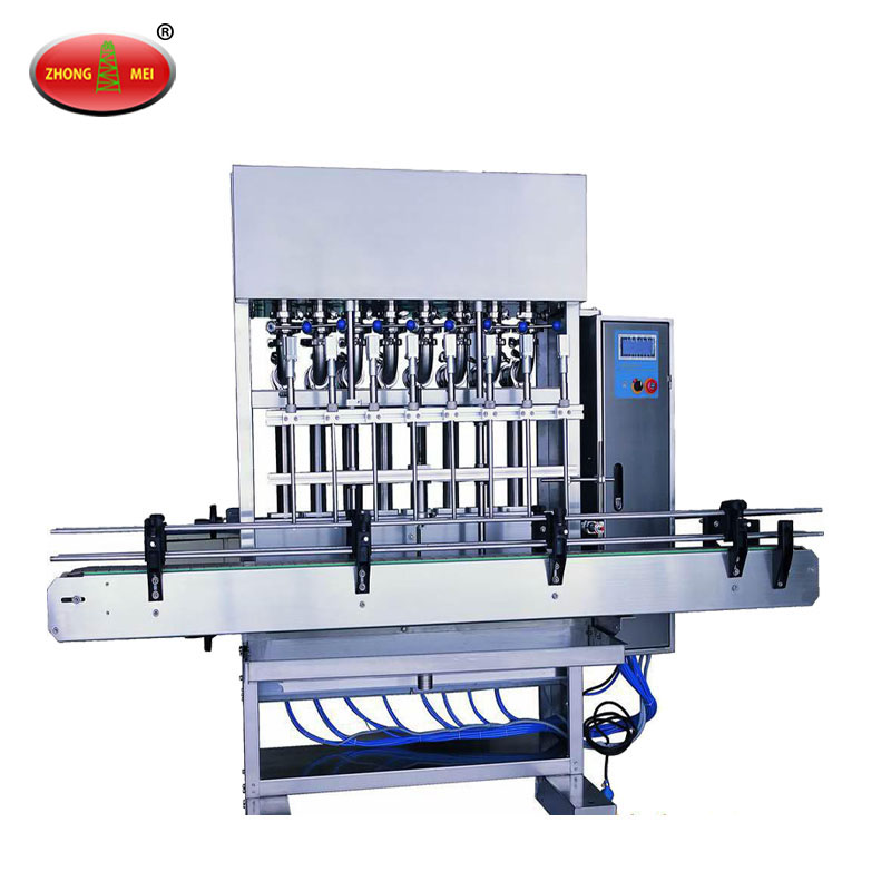4 Diving Nozzle Piston Semi-Automatic Liquid Soap Filling Machine