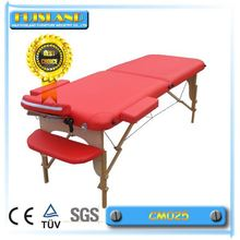 Massage Table Portable Aluminium 3 Fold Black Bed Chair Beauty Therapy Wax Salon
