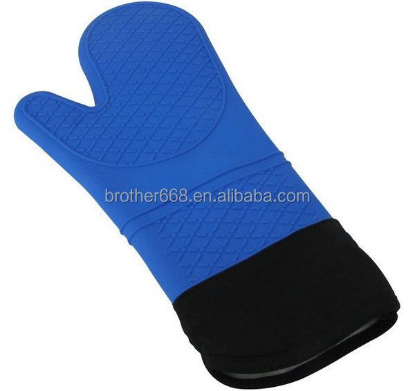 Custom heat resistant kitchen cooking BBQ silicone glove