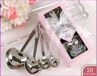 4 Pcs One Set Love beyond Measure Spoon Gift Wedding Souvenirs Guests