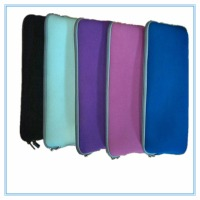 15.6 inch neoprene notebook sleeve with hide handle