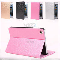 Top selling products in alibaba Diamond style Hand Made stand pu leather Cover for iPad Mini 2 case