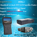 "Handheld 4.3"" TFT LCD Satellite Finder support AHD CCTV Camera Test , 13/18V LNB Power Input"