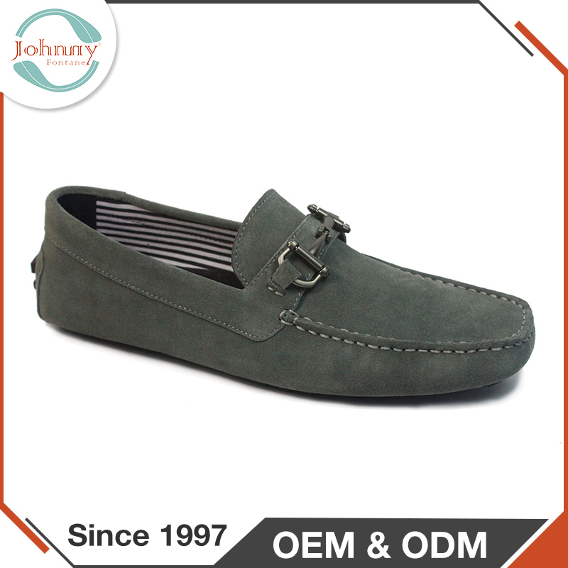 Fashionable Rubber Outsole Fabric Lining Mens Loafer Casual Shoes
