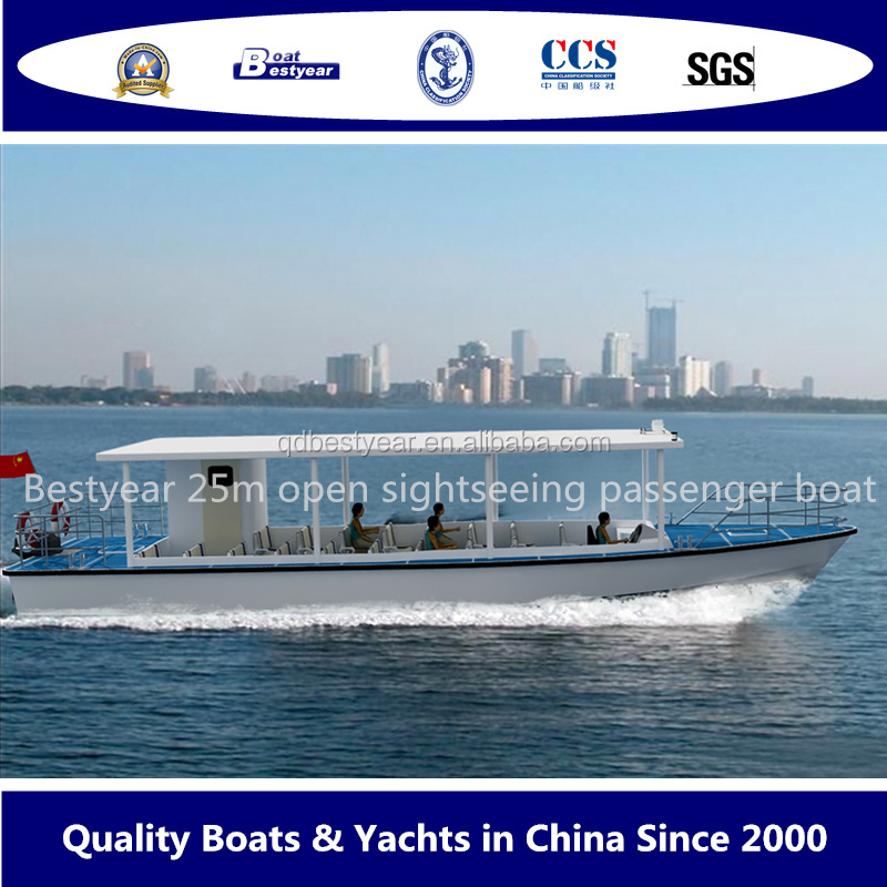 open sightseeing boat passenger boat 25m