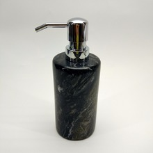 elegant black natural stone real marble color soap dispenser