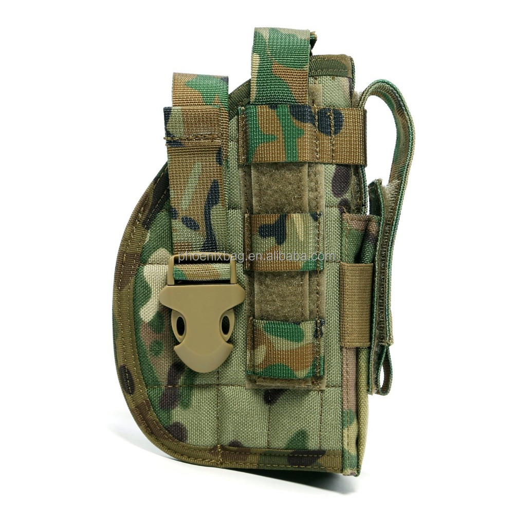 Tactical Molle Nylon Modular Pistol Holster with Mag Pouch for Right Handed Shooters