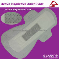 Feminine hygiene sanitary pad with active oxygen anion core
