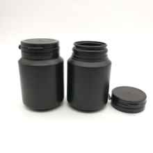 100CC 100ml HDPE Black medical pill bottle Plastic empty refillable capsule packaging container with tear off cap