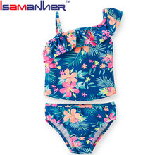 Fashion trendy sexy little young girl swimsuits one piece