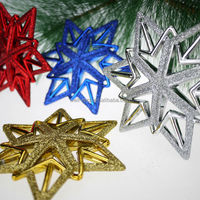 2015 Christmas Plastic painted star Christmas ornament