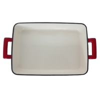 cast iron grill plate red enameled griddle pan, Alibaba 13 years Gold Supplier Royal Kasite