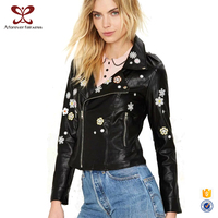 Europe America Black Leather Motorbike Women