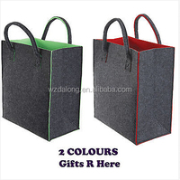 Large Felt Strong Reusable Shopping Market Picnic Bag - 2 Colours - New