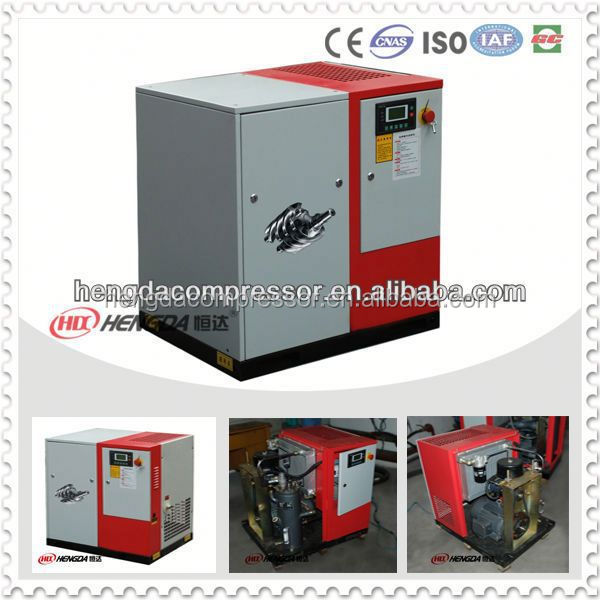Industrial Electric Power 10bar 15HP 1.5m3/min Screw silent cabinet type piston air compressor