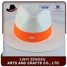 Alibaba lady men women paper straw fedora panama hat cheap