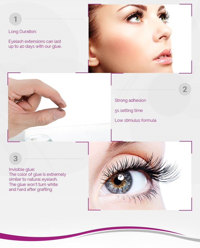 Hot Sales Fast Dry Low Odor 4 weeks Long Lasting Supper Stick No Taxic Glue For Eyelash Extension