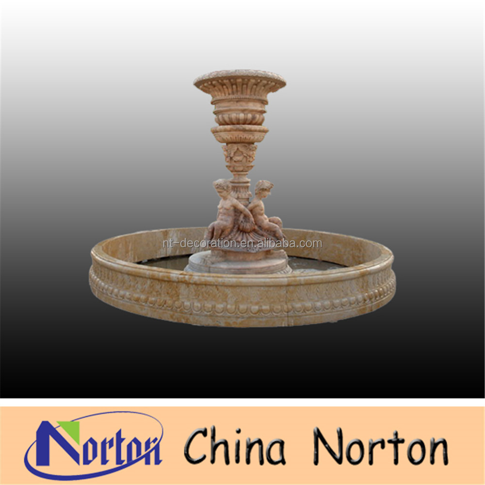 Antique Style marble Hindu God Ganesh Water Fountain NTMF-S315R