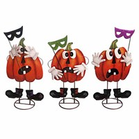 Free design service three funny cute new designed decorated pumpkin for halloween