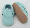 Handmade wholesale price genuine leather moccasins toddler shoes