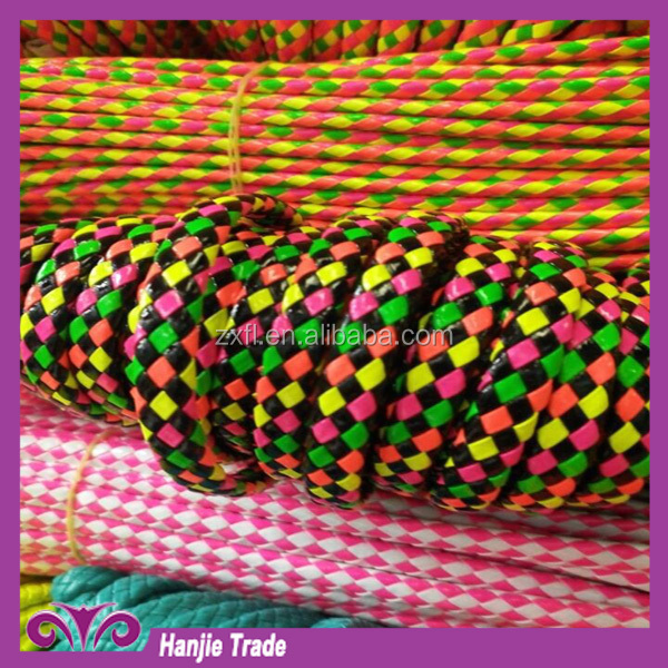 New colorful rope PU/PVC leather braided rope