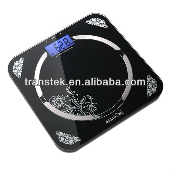 glass scale measure body fat index