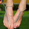 Crystal Barefoot Foot Chains With Toe