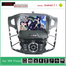 1 din in dash car dvd multimedia with gps navigation for ford focus 2 c max 2011 android 7.1 2G ram built in 3/4g wifi bletooth