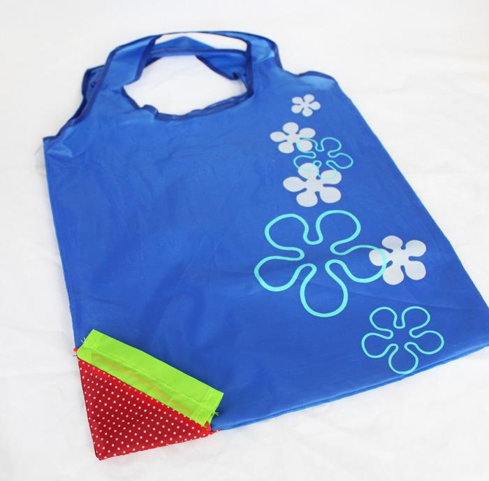 2017 customized eco-friendly strawberry shopping polyster tote bag