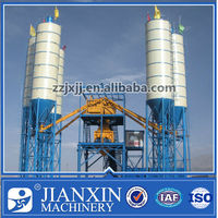 Best selling hzs75 concrete batching mixing plant with capacity 75m3/h for sale