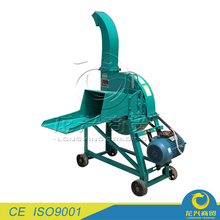 electric motor hand operated chaff cutter for small animal farm use making straw corn pellet