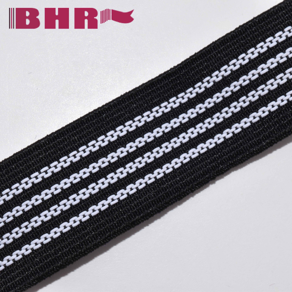 transparent silicone printed elastic band for bib short