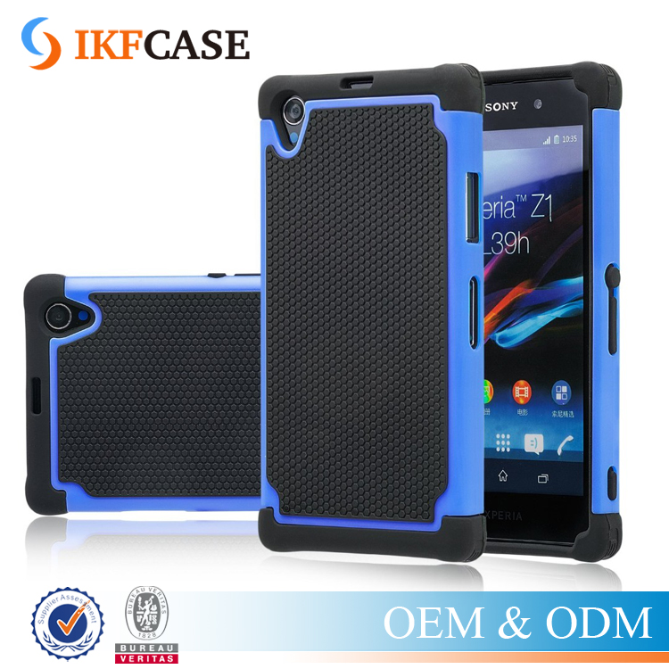 Hybrid TPU + Plastic Shockproof Matte Heavy Duty Slim Armor Case For Sony Xperia Z1 C6943 C6903 C6902 C6906