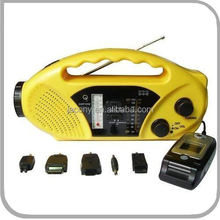 solar dynamo radio with LED torch and cell phone charger (JL-9514)