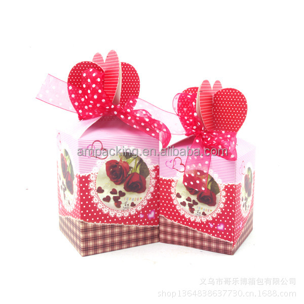 Hot sale 2014 decorative folding Christmas gift box for toy packaging