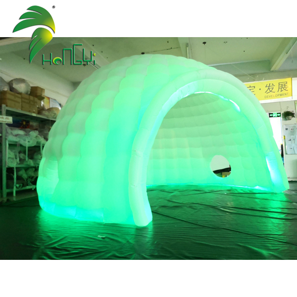 Stage Decoration Lighting Inflatable Igloo LED Tent With Blower