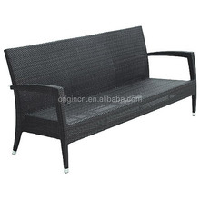 Salon restaurant waiting wicker rattan bench furniture outdoor 3 seater sofa dimensions