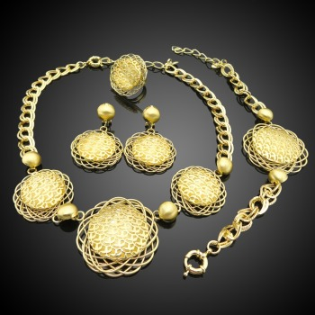 2016 New Arrival African Gold Plated Jewelry set which for Wedding jewelry set Match Clothes AHK358